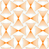 3D orange striped pin will rectangles. Seamless geometric background. Pattern with realistic shadow and cut out of paper effect.3D orange striped pin will stock illustration