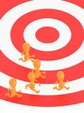 3d orange tecken, s-spring på ett spår stock illustrationer