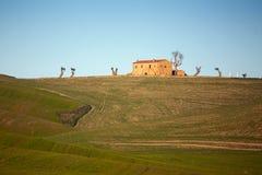 D'Orcia de Val em Toscânia, Itália Fotografia de Stock