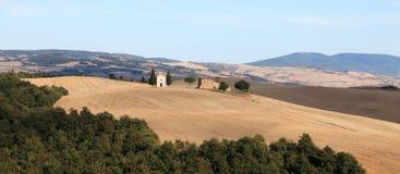 d'Orcia de Val, paisaje del otoño en Toscana Foto de archivo libre de regalías