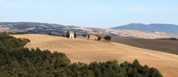 d'Orcia van Val, de herfstlandschap in Toscanië Royalty-vrije Stock Foto