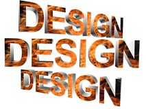 3D ord - design Royaltyfri Bild