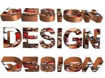 3D ord - design Arkivfoton