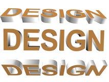 3D ord - design Royaltyfria Foton