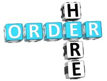 3D Order Here Crossword. On white background Royalty Free Stock Images