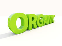 3d organic. Organic icon on a white background. 3D illustration Stock Images