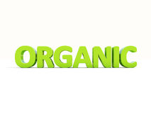 3d organic. Organic icon on a white background. 3D illustration Stock Image
