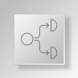 3D organizational chart icon Business Concept Stock Photo