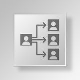 3D organizational chart icon Business Concept Royalty Free Stock Photography
