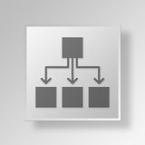 3D organizational chart icon Business Concept Royalty Free Stock Photo