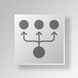 3D organizational chart icon Business Concept Royalty Free Stock Photos