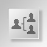 3D organizational structure icon Business Concept Royalty Free Stock Photography