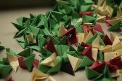 3D origami - остатки Стоковая Фотография