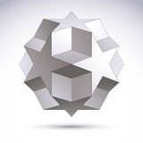 3D origami abstract object, vector abstract design element, clea Royalty Free Stock Photo
