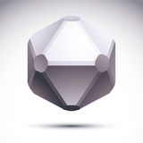 3D origami abstract object, vector abstract design element, clea Stock Photography