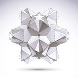 3D origami abstract object, vector design element Royalty Free Stock Photography