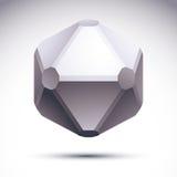 3D origami abstract voorwerp, vector abstract ontwerpelement, clea Stock Fotografie