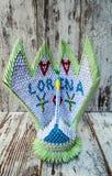3d Origami een zwaan Stock Foto