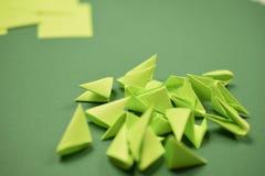 3D origami - groene modules royalty-vrije stock fotografie