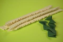 3D origami in het maken Stock Afbeeldingen
