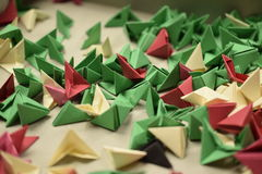 3D origami - restes Photos stock