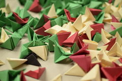 3D origami - rimanenze Immagine Stock