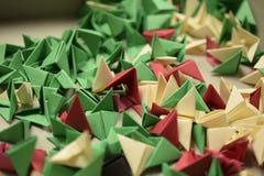 3D origami - rimanenze Fotografia Stock