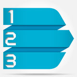 3d Origami Style Numbered Arrow Banner Stock Images