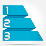 3d Origami Style Numbered Banner Template Royalty Free Stock Photos