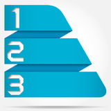 3d Origami Style Numbered Banner Royalty Free Stock Photography