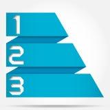3d Origami sztandaru styl Liczący szablon Zdjęcia Royalty Free