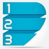 3d Origami sztandaru styl Liczący szablon Obraz Royalty Free