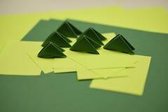 3D origamimodules royalty-vrije stock fotografie