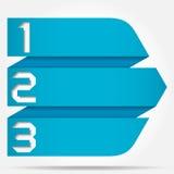 3d Origamistijl Genummerd Pijlbanner stock illustratie