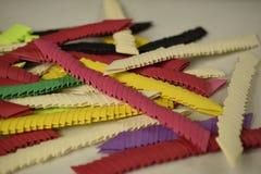 3D origamivoorraad Stock Afbeeldingen