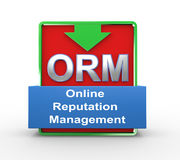 3d orm online reputation management. 3d illustration of orm online reputation management concept Royalty Free Stock Photos