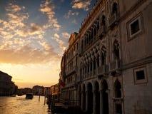 d'Oro Ca, грандиозный канал, Венеция, Италия Стоковое Изображение RF