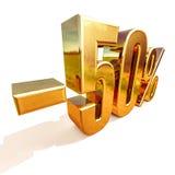 3d oro 50 muestra del cincuenta por ciento Fotografía de archivo