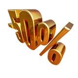 3d oro 50 muestra del cincuenta por ciento Fotos de archivo