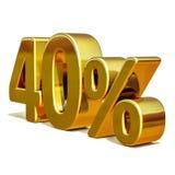 3d oro 40 muestra del descuento del cuarenta por ciento Imagen de archivo libre de regalías