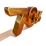 3d oro 70 muestra del descuento del setenta por ciento Imagenes de archivo