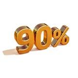 3d oro 90 novanta segni di sconto di per cento Fotografia Stock