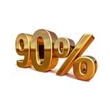 3d oro 90 novanta segni di sconto di per cento Immagini Stock Libere da Diritti