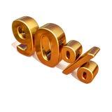 3d oro 90 novanta segni di sconto di per cento Fotografie Stock
