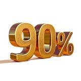 3d oro 90 novanta segni di sconto di per cento Immagini Stock
