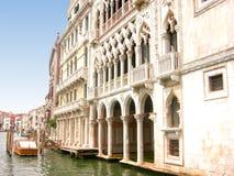 d'Oro Palazzo de Ca en Venecia Imágenes de archivo libres de regalías
