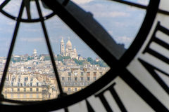 D'orsay clock tower in Paris, France Stock Photo