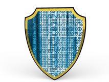 3d osłona z binarnym kodem Zdjęcia Royalty Free