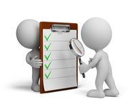 3d osoba i lista kontrolna Obraz Stock