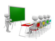 3d osoba pokazuje blackboard ręką Obraz Stock